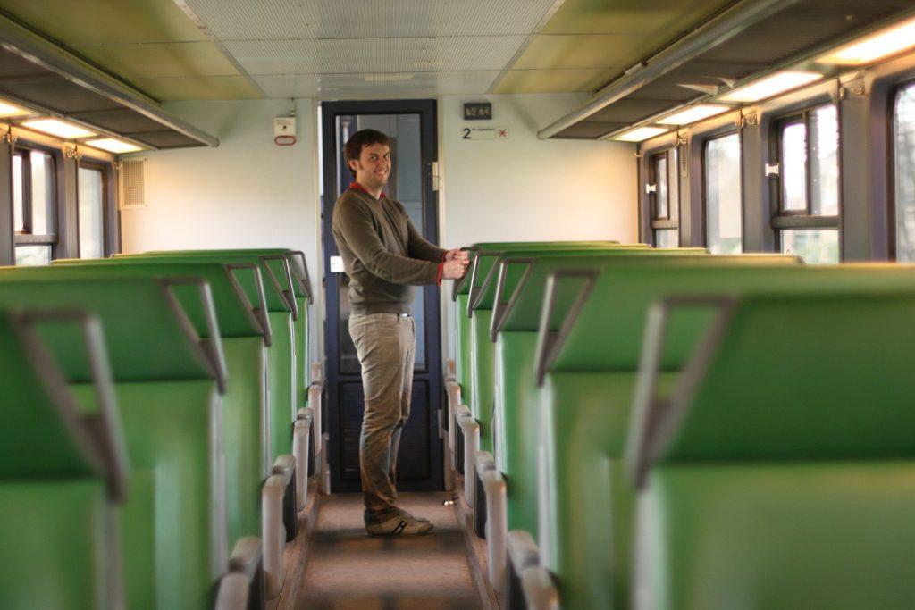 オランダの電車の車内