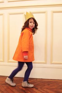 すっぽりコート オレンジ #5