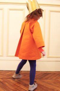 すっぽりコート オレンジ #4