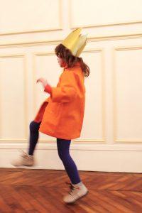 すっぽりコート オレンジ #3