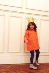 すっぽりコート オレンジ #2