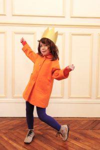 すっぽりコート オレンジ #1
