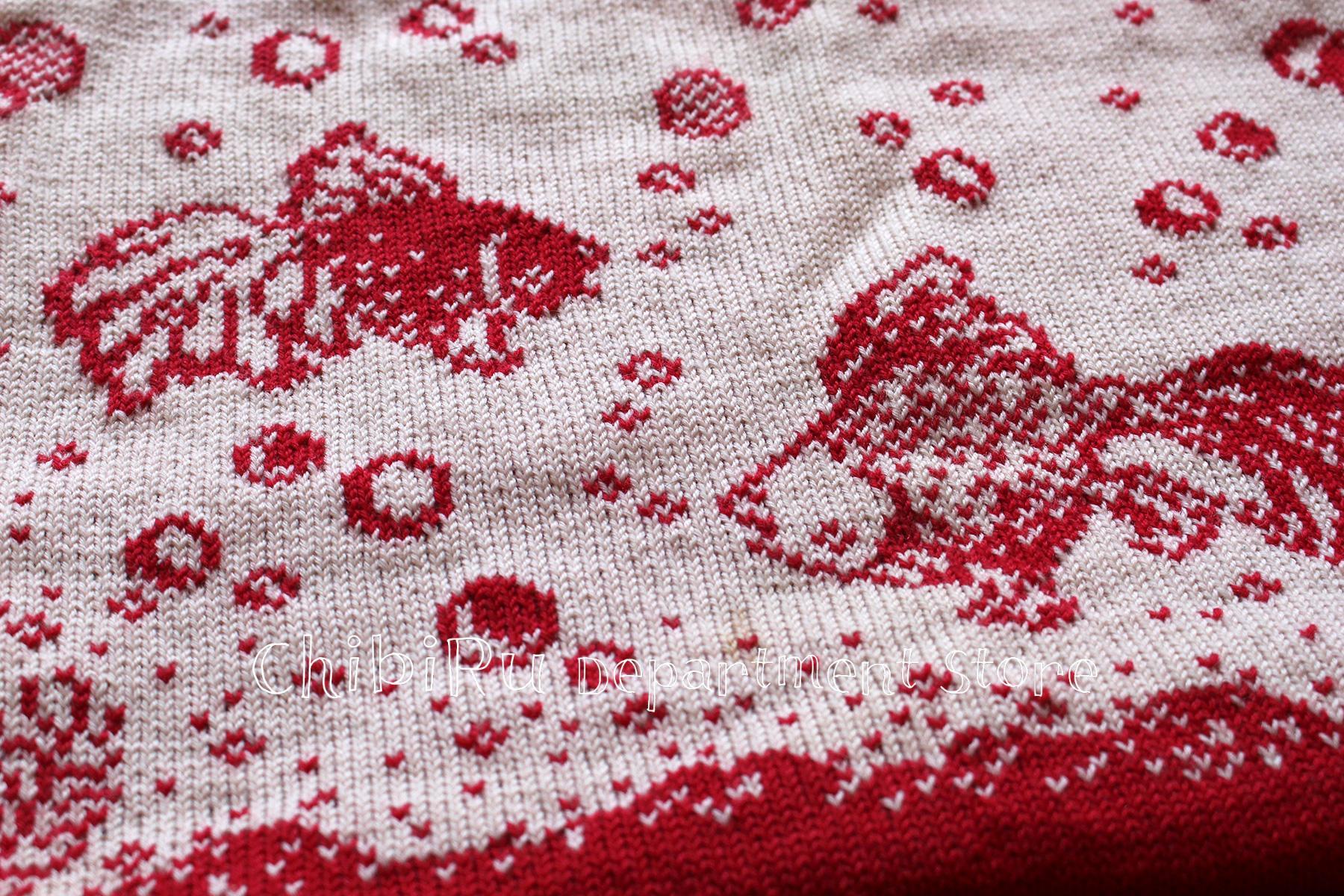 金魚の編み地